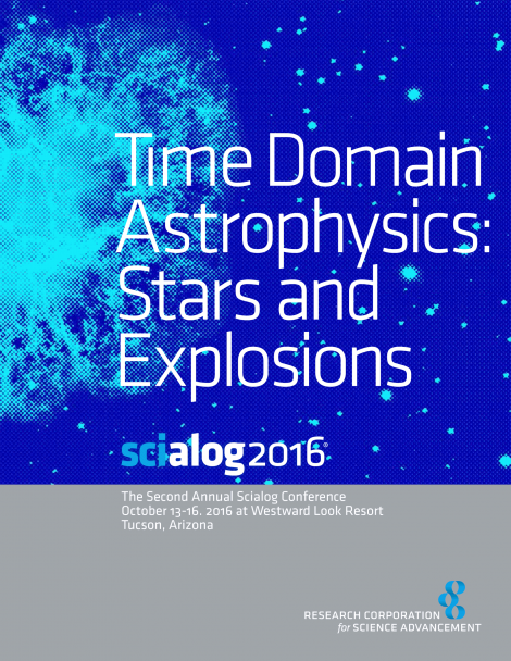 Scialog 2016 Time Domain Astrophysics